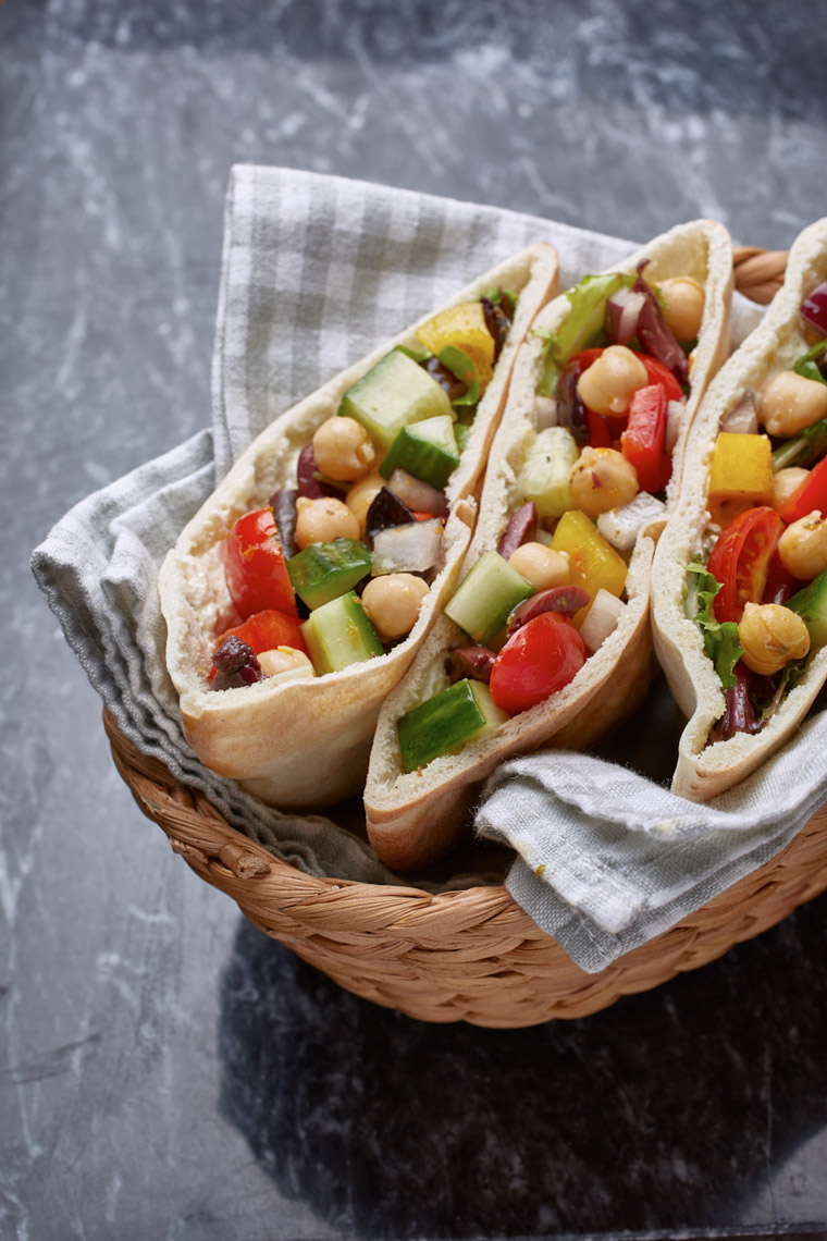 Vegetable Pitas