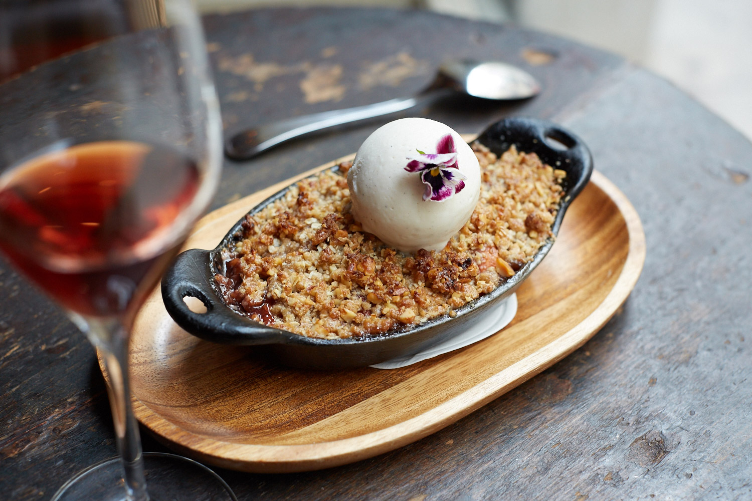 Plum and Nectarine Crumble