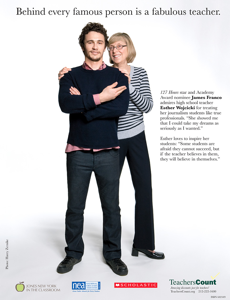 James Franco for Teachers Count